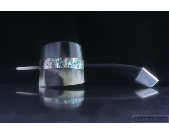 Silver Hair Barrette with mother-of-pearl