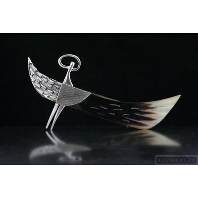 Sterling Silver Hair Barrette Angel Wing