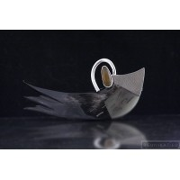 Sterling silver hair barrette angel wing