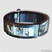 Sterling silver bracelet bangle unique one of a kind 192