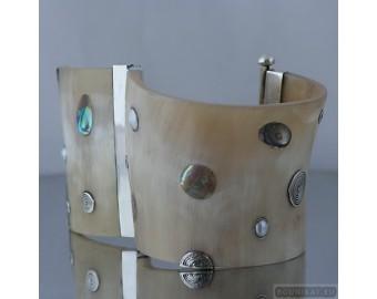 Sterling silver bracelet bangle unique one of a kind 260