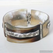 Sterling silver bracelet bangle unique one of a kind 631