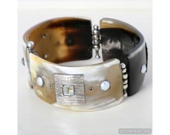Sterling silver bracelet bangle unique one of a kind 632