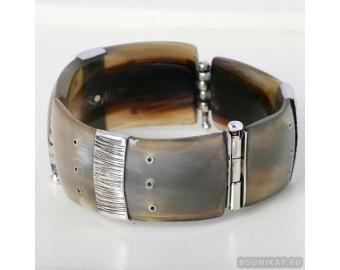 Sterling silver bracelet bangle unique one of a kind 633