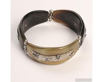 Sterling silver bracelet bangle unique one of a kind 705