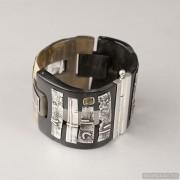 Sterling silver bracelet bangle unique one of a kind 726