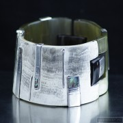 Sterling silver bracelet bangle unique one of a kind 97