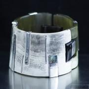 Sterling silver bracelet bangle unique one of a kind 97