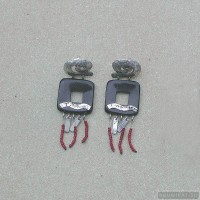 Sterling silver earrings 105a