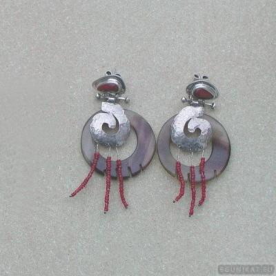 Sterling silver earrings 105b