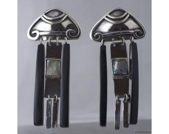 Sterling silver earrings 542