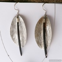 Sterling silver earrings 642