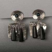 Sterling silver earrings 104b