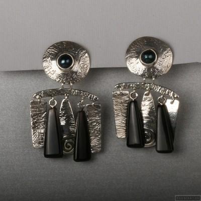 Sterling silver earrings 104b