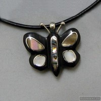 Sterling silver necklace butterfly