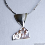 Sterling silver necklace 641