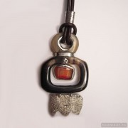Sterling silver necklace with carnelian 760