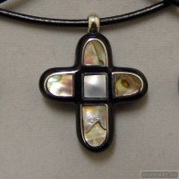 Sterling silver necklace cross 126