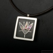 Sterling silver necklace flower 207
