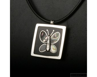 Sterling silver necklace butterfly 210
