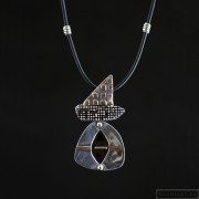 Sterling silver necklace 211a