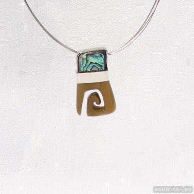 Sterling silver necklace 408