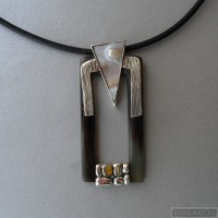 Sterling silver necklace with citrine 781