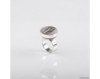 "925 Sterling Silver Ring With Celtic Rune ""Fehu"" 838."