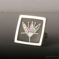 Sterling silver ring flower 207