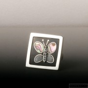 Sterling silver ring butterfly 210