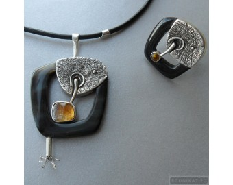 Sterling silver jewelry set 770