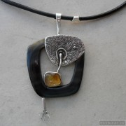 Sterling silver necklace with citrine 770