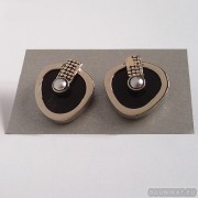 Sterling silver earrings with pearls 240