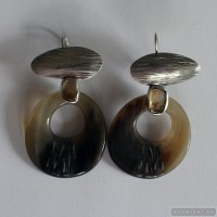 Sterling silver earrings with citrines 655