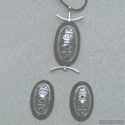 Sterling silver jewelry set 115