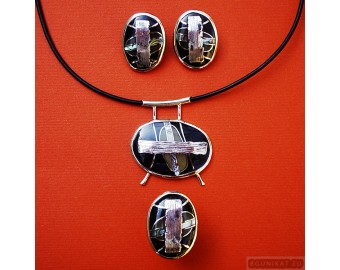 Sterling silver jewelry set 194