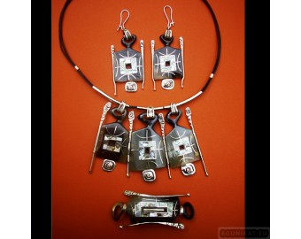 Sterling silver jewelry set 195