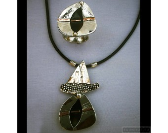 Sterling silver jewelry set 211
