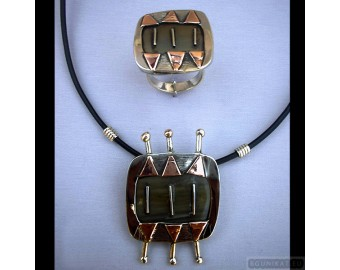 Sterling silver jewelry set 213