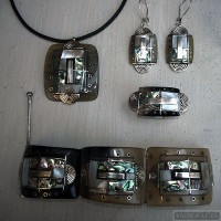 Sterling silver jewelry set 239