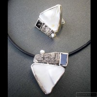 Sterling silver jewelry set 257