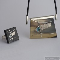 Sterling silver jewelry set 525
