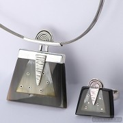 Sterling silver jewelry set 528