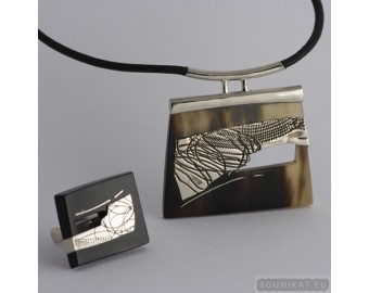 Sterling silver jewelry set 529