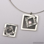 Sterling silver jewelry set 551