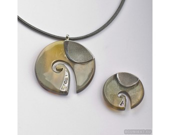 Sterling silver jewelry set 762