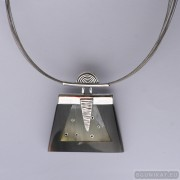 Sterling silver necklace 528