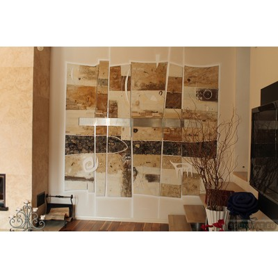 Wall panel for private house